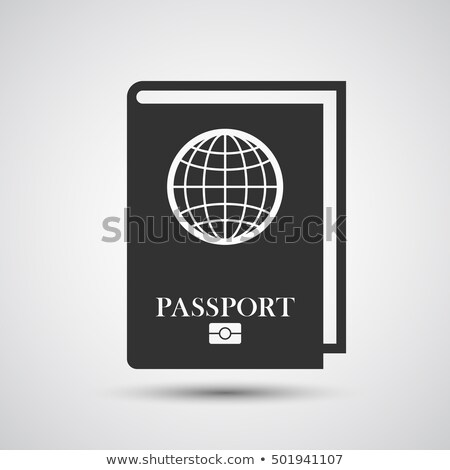 паспорта чипа икона шаблон синий желтый Сток-фото © angelp