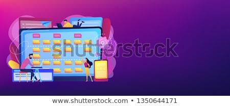 Szoftver követelmény leírás szalag fejléc pici Stock fotó © RAStudio