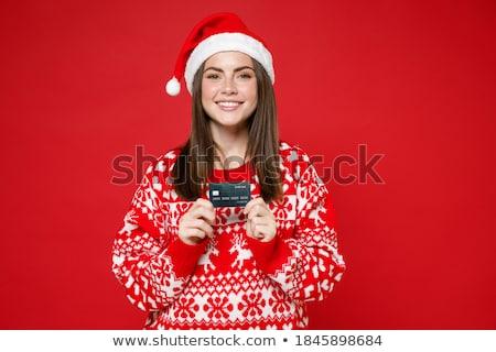 Vrolijk heldere wenskaart holding handen omhoog Stockfoto © robuart