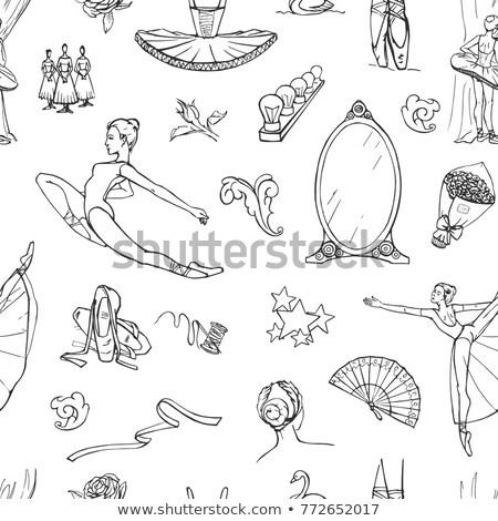 Hand drawn Ballet pattern Stock photo © netkov1