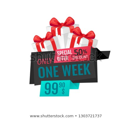 Only One Week, Price Reduction Clearance Label Stock photo © robuart