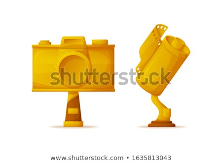 Photo and Video Camera Shape Gold Awards or Prizes Stok fotoğraf © robuart