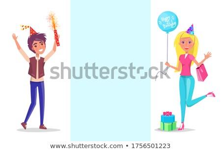partij · blazer · kleur · icon · verjaardag · speelgoed - stockfoto © robuart