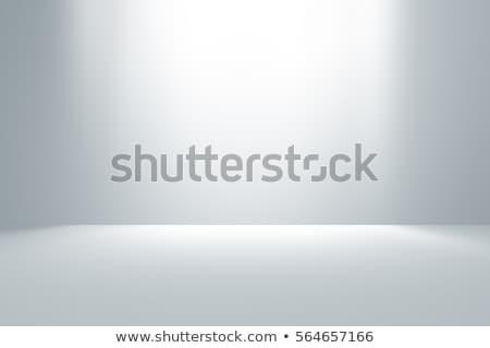 Fehér stúdió üres szoba szoba tapéta tiszta Stock fotó © SArts