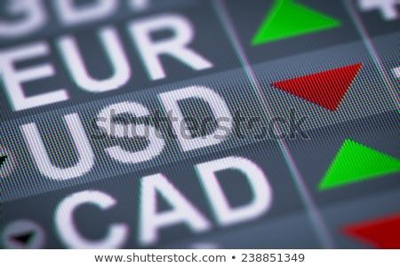 Bourse silhouettes statut échange informations Photo stock © ConceptCafe