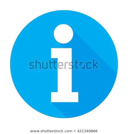 Információ ikon információ gomb felirat szimbólum Stock fotó © kyryloff