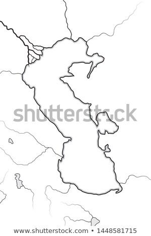 Asia · mapa · Azerbaiyán · país · mapas · botón - foto stock © glasaigh