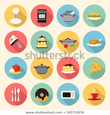 kitchen flat icon pie stock photo © netkov1