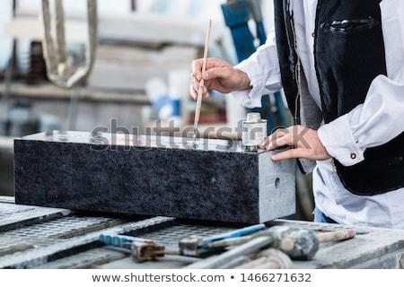 絵画 彫刻 銀 塗料 ペイントブラシ 建物 ストックフォト © Kzenon
