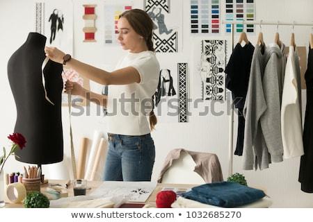 femme · travail · bureau · occupés · Creative · bureau - photo stock © pressmaster