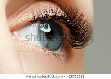 女性 眼 長い クローズアップ ストックフォト © serdechny