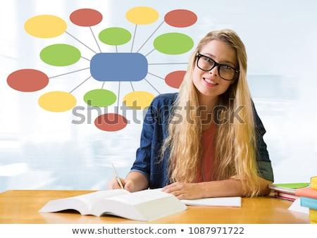 Zakenvrouw kleurrijk geest kaart heldere digitale composiet Stockfoto © wavebreak_media