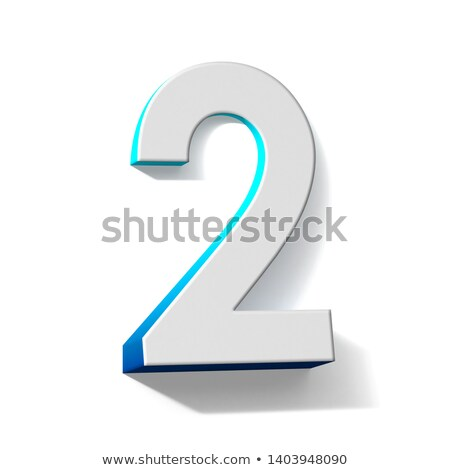 Blue extruded Number 2 TWO 3D Stock photo © djmilic