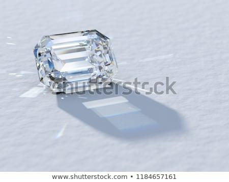 Zümrüt kesmek elmas alan 3D görüntü Stok fotoğraf © AnatolyM