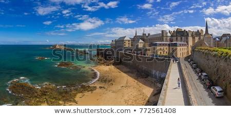 Przypływ miasta morza ocean burzy fali Zdjęcia stock © tilo