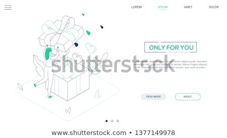 amour · conception · de · site · web · style · web · bannière · atterrissage - photo stock © decorwithme