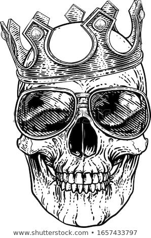 Skull Cool Sunglasses Skeleton in Shades Stock photo © Krisdog