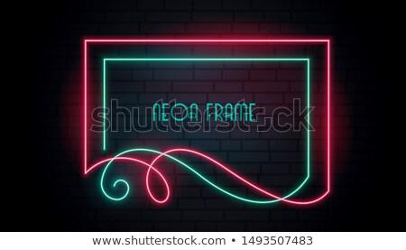 Neon anziehend Rahmen floral swirl Stil Stock foto © SArts