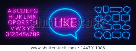 blue neon like sign stock photo © voysla