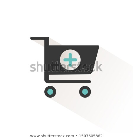 Shopping pharmacy cart. Flat icon with beige shade. Vector illustration Stock photo © Imaagio