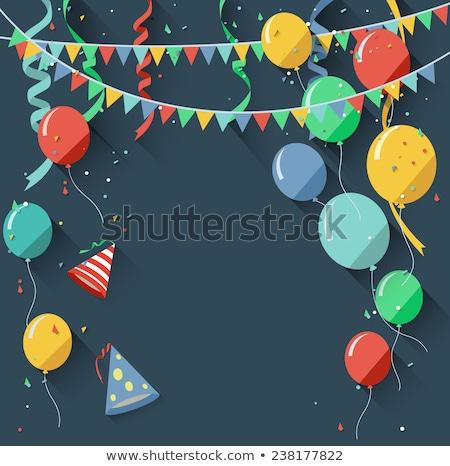 Születésnap évforduló ünneplés terv stílus boldog emberek Stock fotó © Decorwithme