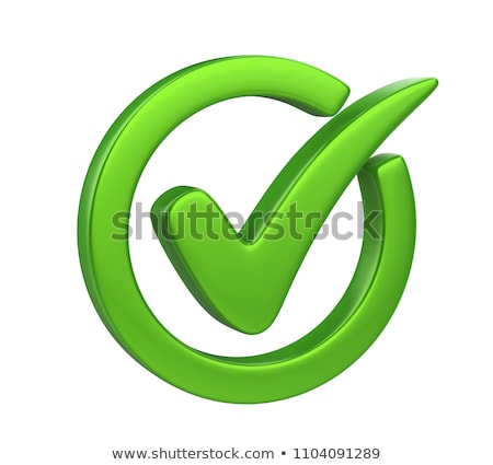 checkmark tick 3d icon stock photo © -talex-