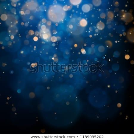 ストックフォト: エレガントな · パターン · クリスマス · 要素 · 暗い · 青