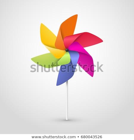 Giocare mulino a vento ritratto felice donna energia Foto d'archivio © iko