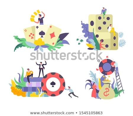 Player Table Betting And Gambling Icon Vector Illustration Stock photo © pikepicture