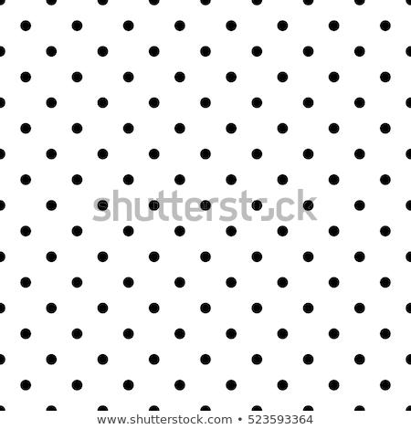 vintage polka dot textile background texture white dots on blac stock photo © anneleven