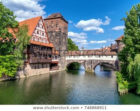 Chain Bridge, Nuremberg, Germany Stock photo © borisb17