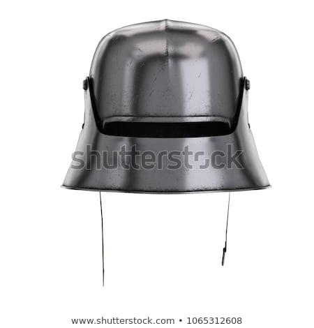 Medieval cavaleiro metal armadura capacete espada Foto stock © jossdiim