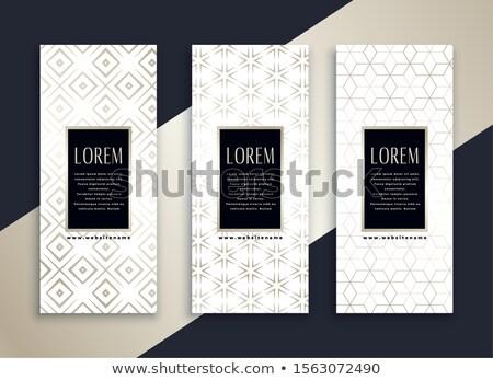 Blanco vertical limpio banners establecer mínimo Foto stock © SArts