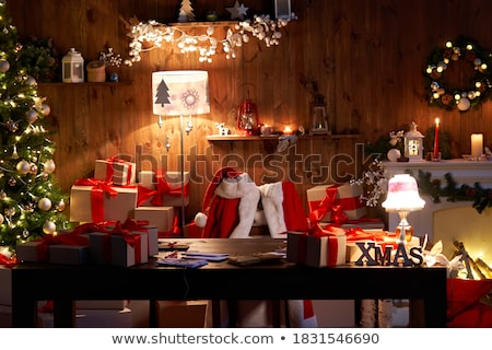 Beautiful wooden chairs decorated with ribbons Stock photo © dariazu