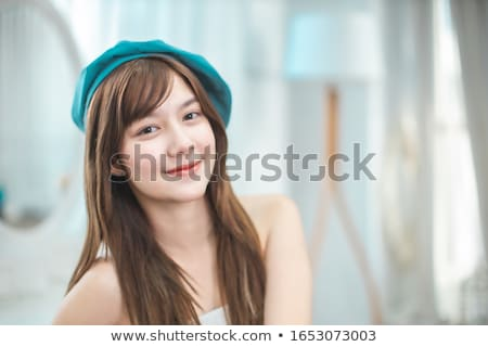 beautiful asian woman professional beauty vlog or blogger presen Stock photo © snowing