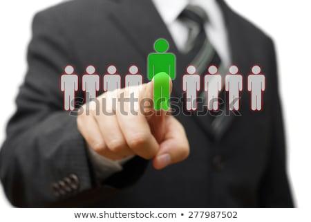 Biznesmen kandydat pracy biurko Zdjęcia stock © AndreyPopov