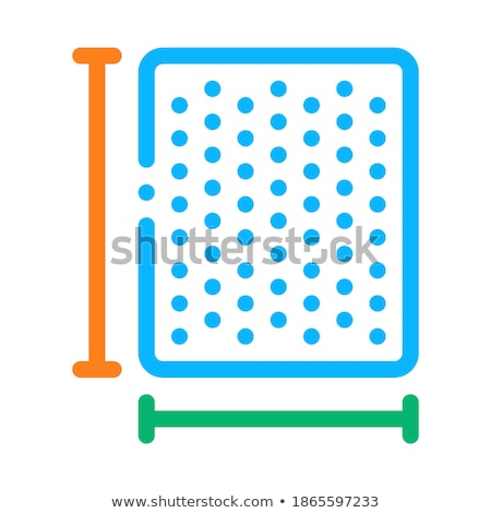 Mattress Width Length Icon Outline Illustration Stock photo © pikepicture