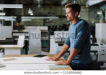 Getting paper out of large printer Stock photo © pressmaster