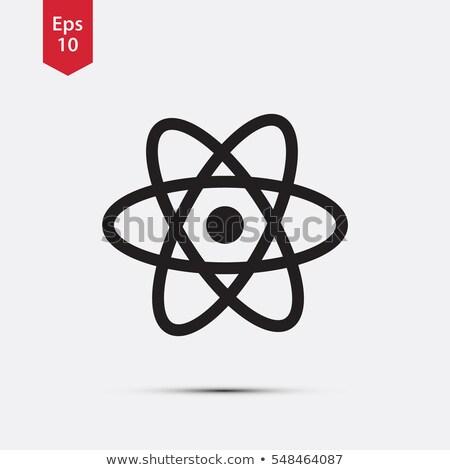 átomo signo icono vector diseno ciencia Foto stock © nezezon