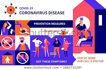 Coronavirus colorato design stile illustrazione poster Foto d'archivio © Decorwithme