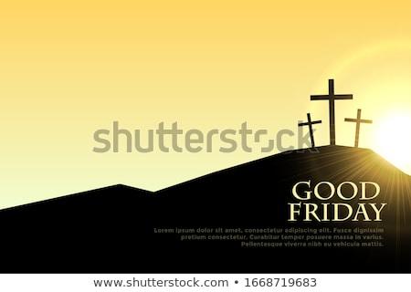 Dobre krzyż słońce migotać projektu tle Zdjęcia stock © SArts