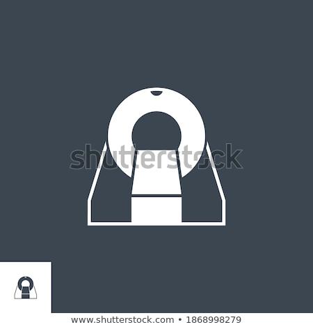 Mri vector icon geïsoleerd witte computer Stockfoto © smoki
