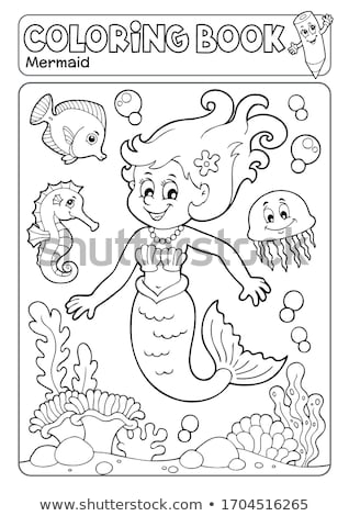 Kleurboek zeemeermin onderwerp vrouw water boek Stockfoto © clairev