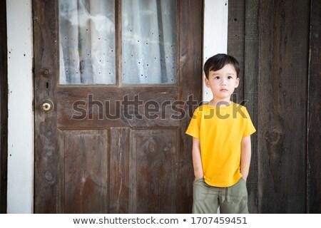 китайский кавказский мальчика Постоянный только Сток-фото © feverpitch