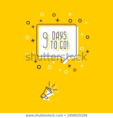 в ближайшее время речи пузырь баннер плакат текста геометрический Сток-фото © FoxysGraphic