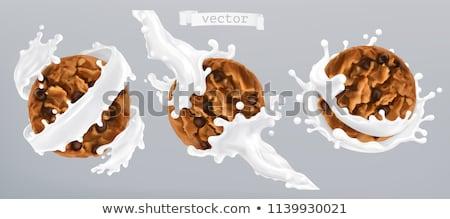 Iogurte leitoso creme café da manhã sobremesa conjunto Foto stock © pikepicture