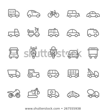 Ambulância carro ícone vetor ilustração Foto stock © pikepicture