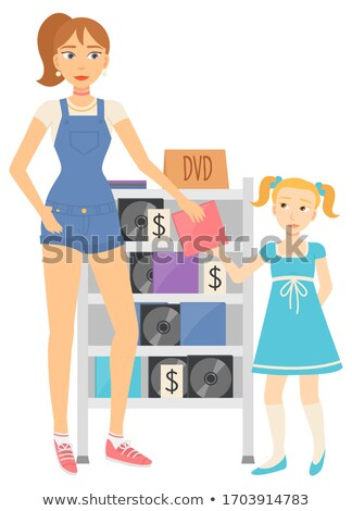 Retail of Obsolete Goods, Buying Disk, Dvd Vector Stock photo © robuart