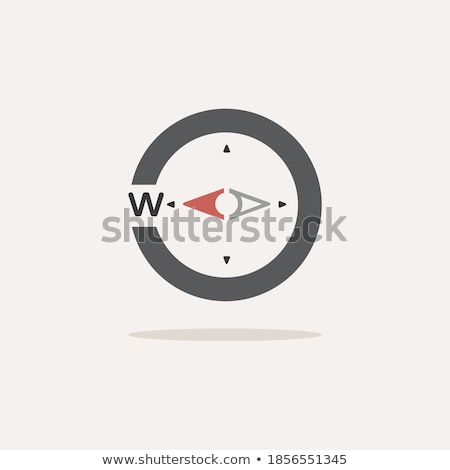 Compass. West direction. Icon. Weather glyph vector illustration Stock photo © Imaagio