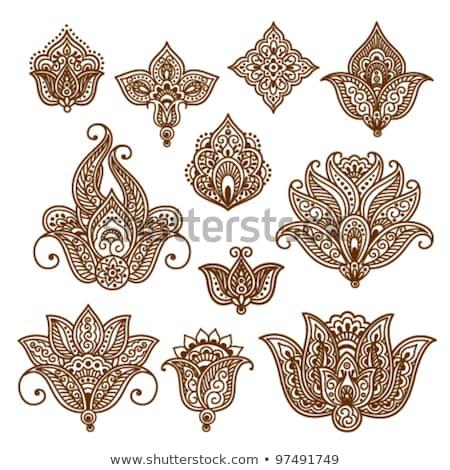 Etnik dekoratif kına dizayn çiçek Stok fotoğraf © SArts